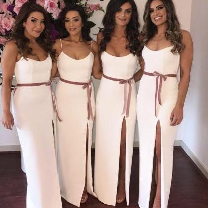 Simple Sheath New Bridesmaid Dresse..