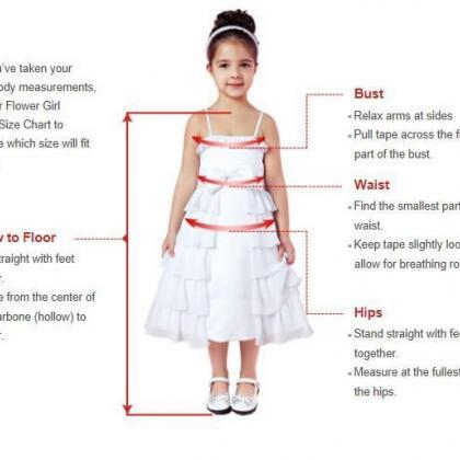 Flower girl dress,white red flower ..