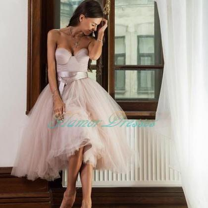 Sweetheart Tulle Homecoming Dress, ..