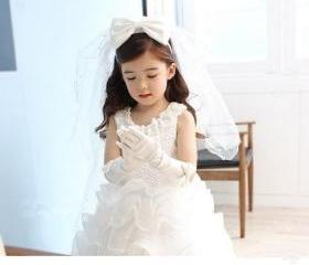 Flower girl dress,wh..
