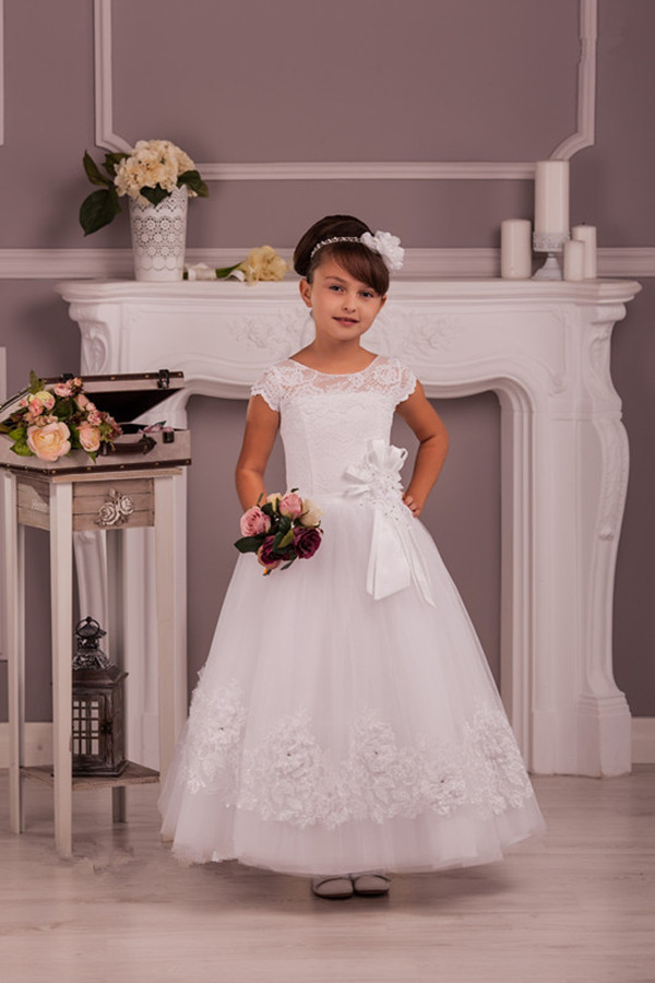 Pretty Flower Girl Dresses Ball Gown Flower Girl Dresses With Pink