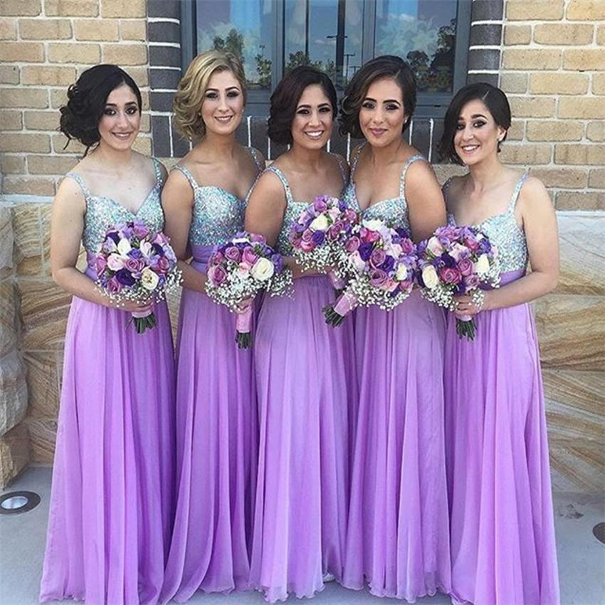 Chiffon Bridesmaid Dress Lilac Gown Gowns Dresses 2017 Long