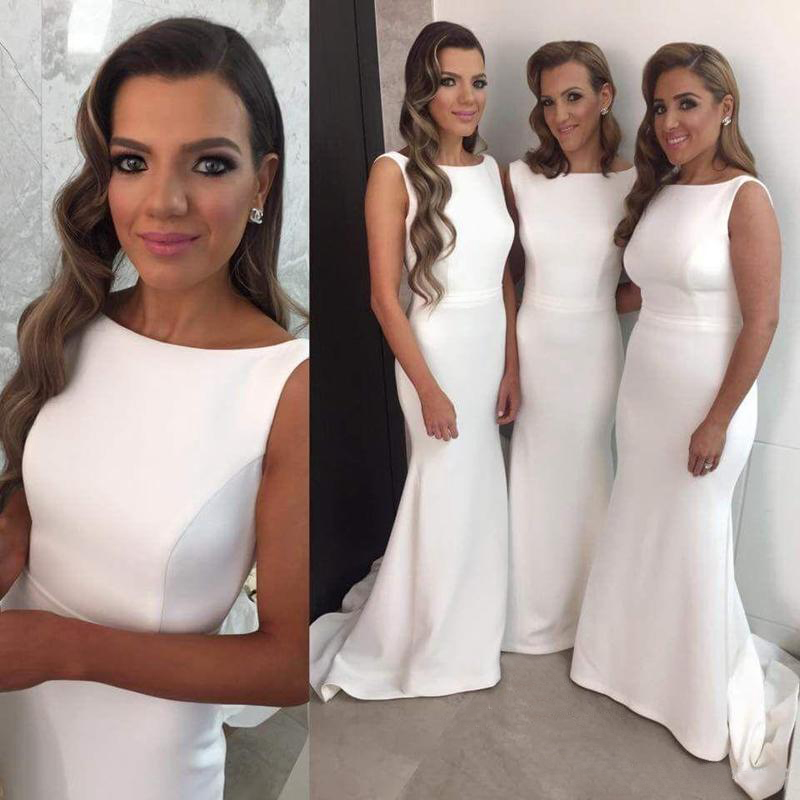 2017 Ivory Bridesmaid Dresses Bridesmaid Dresses Mother Of The Bride Dresses Simple Prom Dress Vestido Mae Da Noiva Mermaid Formal Gowns Ivory