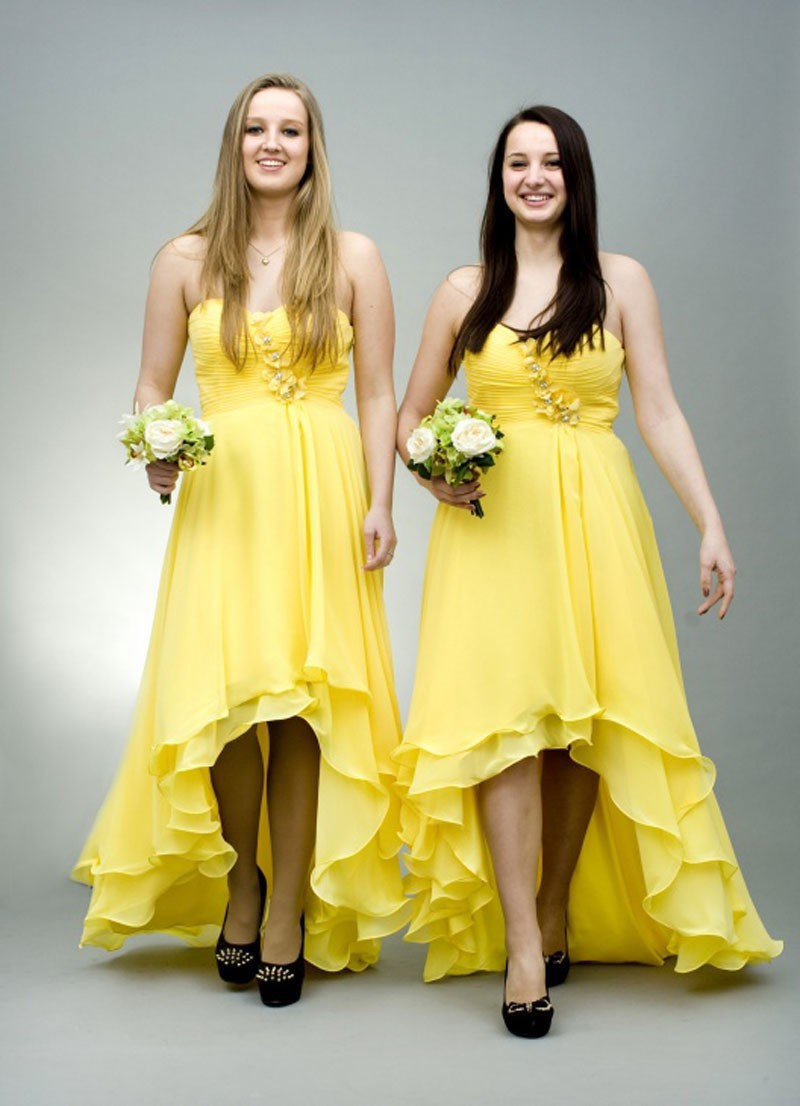 Yellow Gowns for Bridesmaid