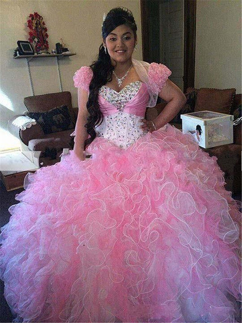 Pink Prom Dress, Ball Gown Prom Dress,Quinceanera Dresses, Pink ...
