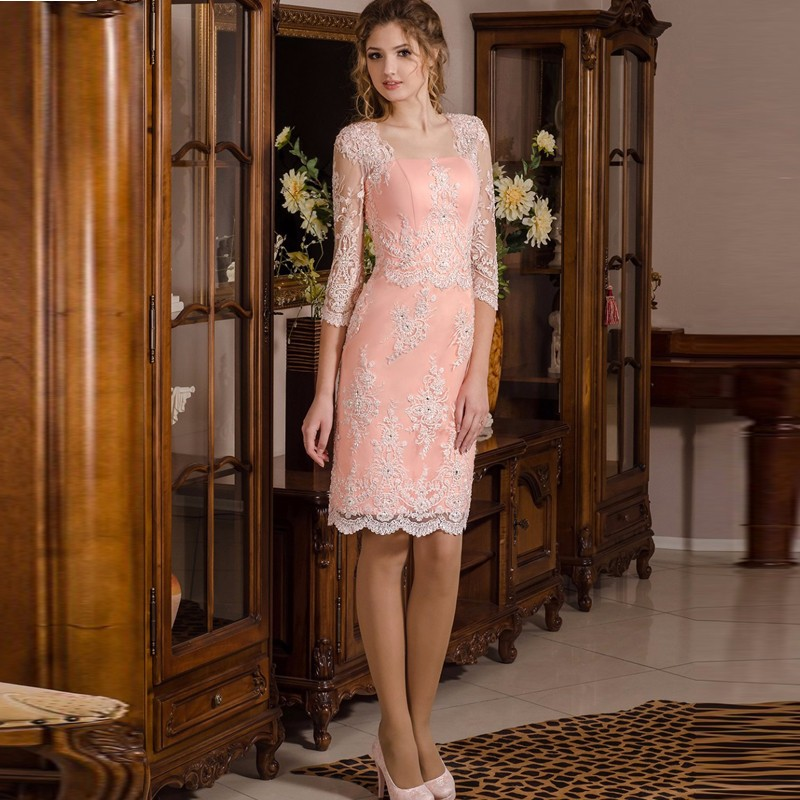 Coral Knee Length Dress