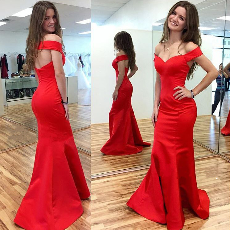Prom Dress,Red Prom Dress,Mermaid Prom Dress,Deep V Neck Prom Gown ...