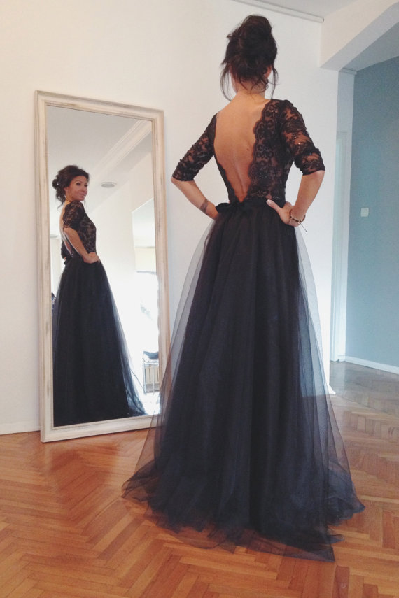 Evening Prom Dress,Long Evening Dress,A Line Prom Gowns,Long Sleeves Prom Dress,Formal Party Dress, Prom Dress, Evening Dress, Backless Prom Dresses, Sexy Prom Dress