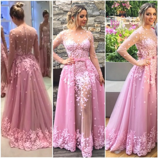 Pink Evening Gownslace Formal Dressesbackless Prom Dressesprom