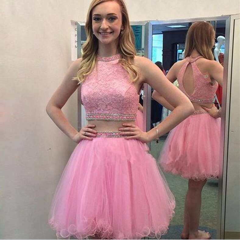 182f3fe48 Hot Short Pink Two Piece Prom Dresses Homecoming Dress,Short Homecoming  Dresses,Junior Prom Dresses,Graduation Dresses,Junior Formal Party Dress