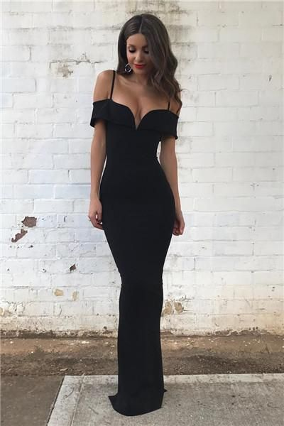 new arrival prom dress,black prom dress mermaid prom dress sweetheart neck prom dress off shoulder long prom gowns