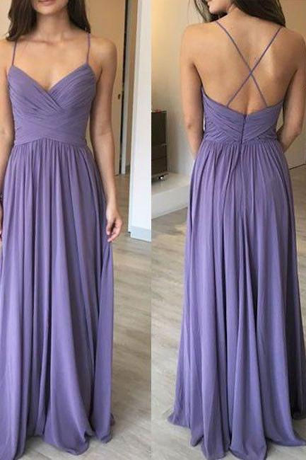 Long Prom Dresses,Newest Spaghetti Straps A-Line Prom Dresses,Cheap Prom Dresses, Evening Dress Prom Gowns, Formal Women Dress,Prom Dress