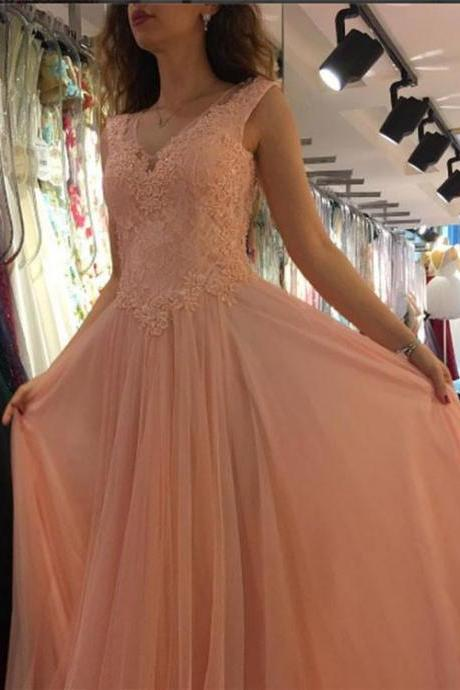 Charming Prom Dress, Sexy Appliques Prom Dresses, A Line Prom Gown, Long Evening Dress