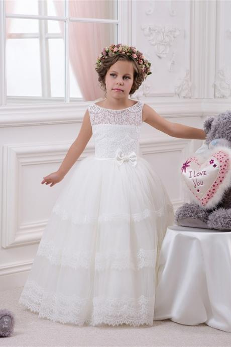 Lovely Flower Girl Dresses,Ball Gown Flower Girl Dresses , Flower Girl Dresses, Floor Length Girls First Communion Dresses, Girls Wedding Party Dresses, Girls Christmas Dresses,Custom Made Girl Dress for Girl 2-14
