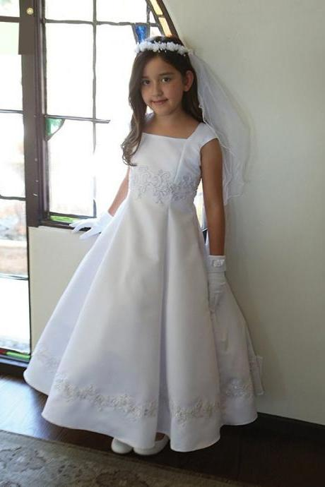 New Arrival Flower Girl Dresses, Princess Ball Gown Flower Girl Dresses, Lace-up Back Flower Girl Dresses, Girls Wedding Party Dresses, Girls First Communion Dresses,Girls Pageant Dresses,Girls Christmas Dresses