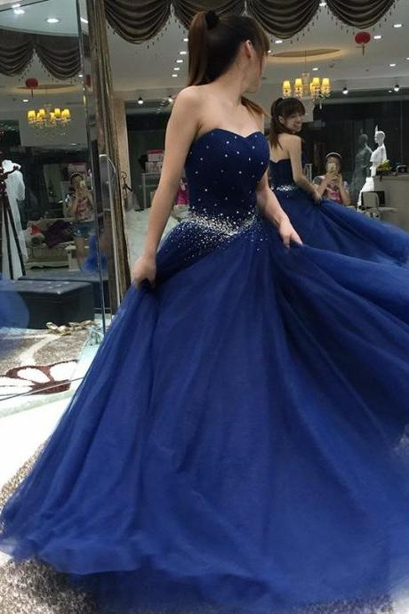 Prom Dress,Navy Blue Prom Dress,Sexy Backless Prom dresses,Custom Made Prom Dress,Long Prom Dresses,2017 Prom Dresses,Prom Dresses,Ball Gown Prom Dresses,Long Evening Dresses,Navy Blue Evening Dresses,Formal Party Dresses for Women
