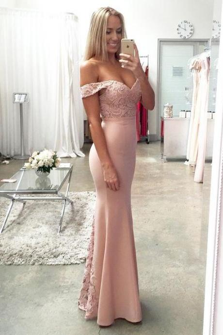 2017 Blush Pink Bridesmaid Dresses,Lace Prom Dress, Vestido Mae Da Noiva, Mermaid Formal Gowns,Pink Evening Dresses,Blush Pink Prom Dresses,Sexy Bridesmaid Dresses