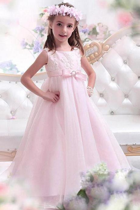 Flower girl dress,pink flower girl dress,princess flower girl dress,high quality girls party dresses, girls christmas dresses, 2017 flower girl dress, girls first communion dress, junior bridesmaid dress,girls wedding party dress,girls pageant dress. Flower Girl Dresses