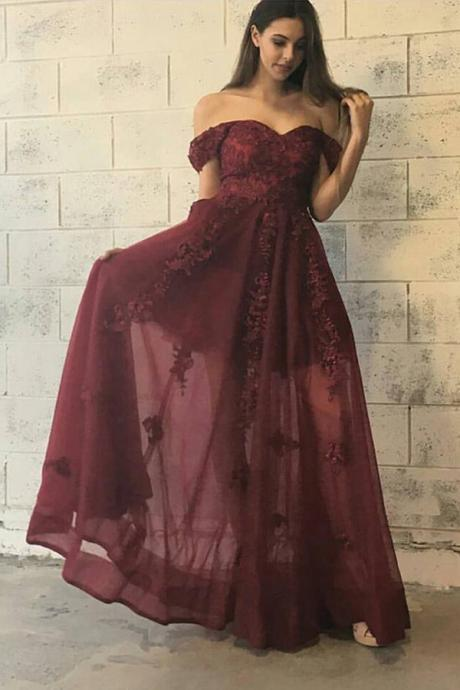 Prom Dresses,Burgundy Prom Dresses 2017,A Line Prom Dresses,Tulle Prom Dress,Fitted Prom Dress,Women's Pageant Dress,Prom Dance Dress,Mermaid Prom Dresses