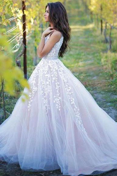 2017 New Prom Dresses,Ball Gown Prom Gowns,Lace Prom Dresses,Tulle Prom Dresses,Tulle Prom Gown,Prom Dress,Evening Gown For Teens