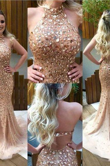 Eveing Prom Dress,Prom Dress,Beading Prom Dress,Crystals Beaded Eveing Prom Dress,Senior Prom Dress, Senior Prom Dress, Tulle Mermaid Prom Dress, Hot Sale Prom Gowns