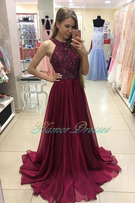 Prom Dresses,Luxury Rhinestone Prom Dress,2017 New Sexy Prom Dresses,Burgundy Prom Dresses,Long Prom Dresses,2017 Formal Party Dresses,Prom Dance Dresses,A Line Prom Dress,Vestidos De Festa,Evening Dresses