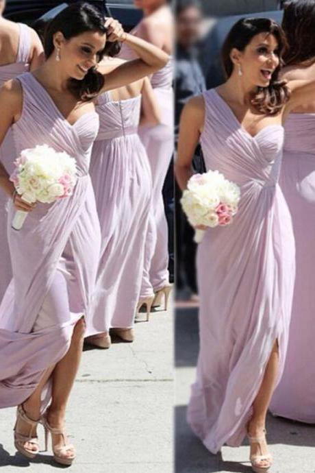 Sexy bridesmaid dresses, Custom bridesmaid dresses,One Shoulder Bridesmaid Gown,Pretty Prom Dresses,Chiffon Prom Gown,Simple Bridesmaid Dress,ridesmaid Dress,Cheap Evening Dresses,Fall Wedding Gowns,2017 Beautiful Bridesmaid Gowns