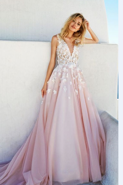 Evening Dress 2017,Prom Dress,V Neck dress,vestidos,party dresses,evening dresses,Pink Prom Dresses,Ball Gown Prom Dress,Prom Gown