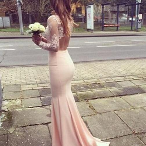 Charming Two Pieces Pink Prom Dresses,Two pieces Prom Dress, Lace Prom Dress, High Neck Pink Prom Dress, Most Popular Prom Dress, Long Prom Dress