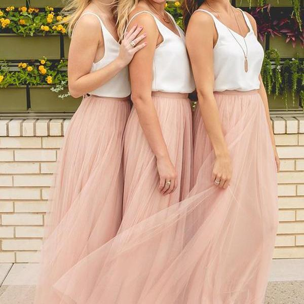 Cute Homecoming Dresses 2018,Simple Prom Dresses, White Prom Dresses,Prom Dresses, Prom Dresses Pink