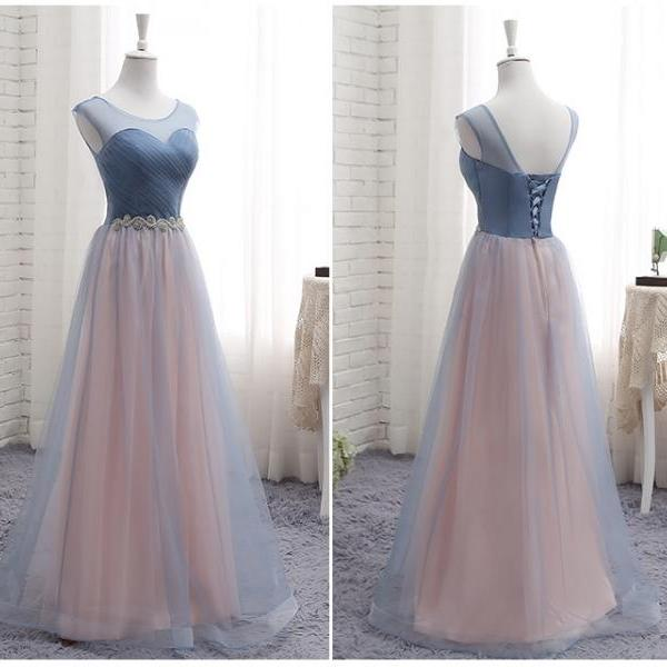 Newest Beach Long Bridesmaid Dresses, A Line Ruched Beach Maid of Honor Long Wedding Guest Party Dress, 2020 Prom Party Gowns Custom