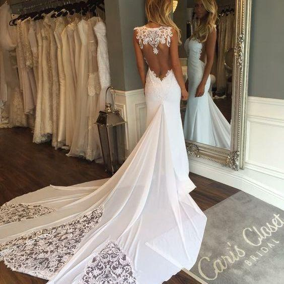 Bridal Dresses, 2017 Wedding Dresses ,Wedding Dresses,Wedding Gown,Wedding Dresses,Wedding Gown,Princess Wedding Dresses Mermaid Wedding Dress with Backless mermaid brides dress, Wedding Party Dresses